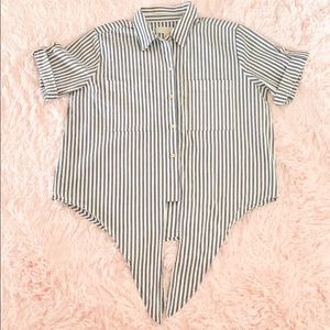 Michael Kors Striped Blouse sz LG